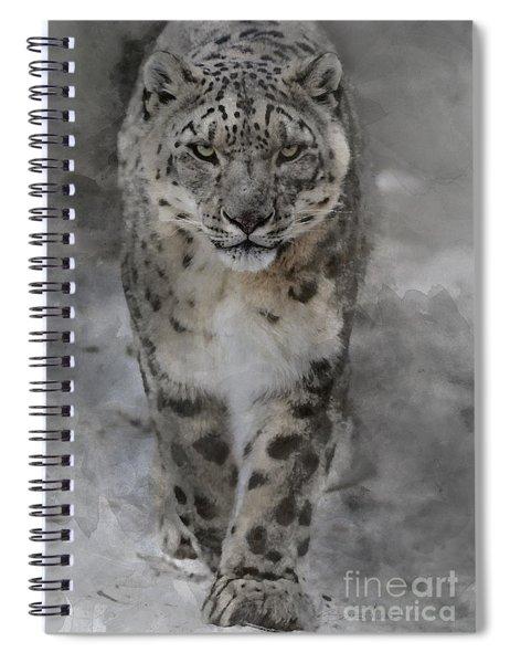 Snow Leopard II Spiral Notebook