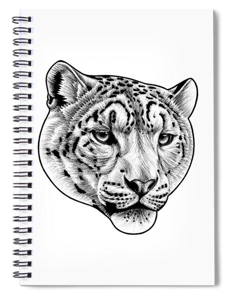 Snow Leopard - Ink Illustration Spiral Notebook