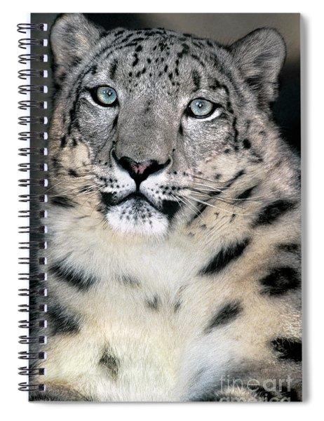 Snow Leopard Portrait Endangered Species Wildlife Rescue Spiral Notebook