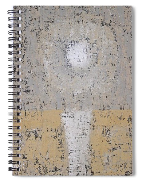 Snow Moon Original Painting Spiral Notebook