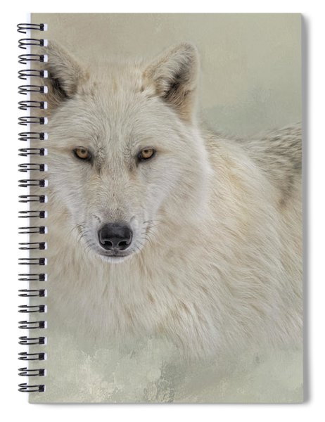 Snow Wolf Spiral Notebook