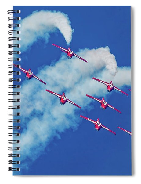 Snowbirds Flying Upside Down Spiral Notebook