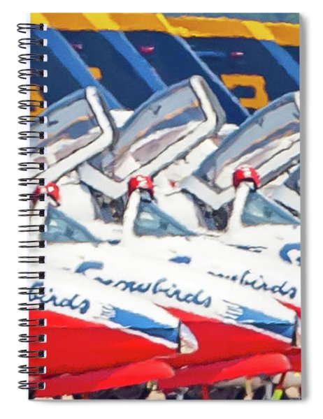 Snowbirds Open Cockpit Spiral Notebook