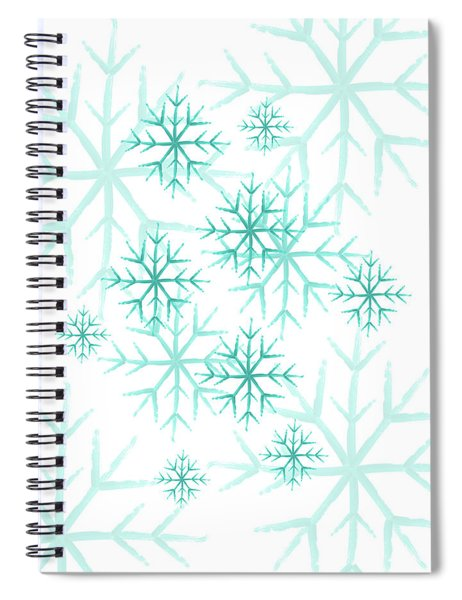 Snowflakes In Blue Spiral Notebook