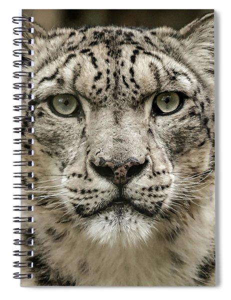 Snowleopardfacial Spiral Notebook