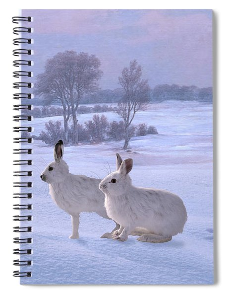 Snowshoe Hares Spiral Notebook