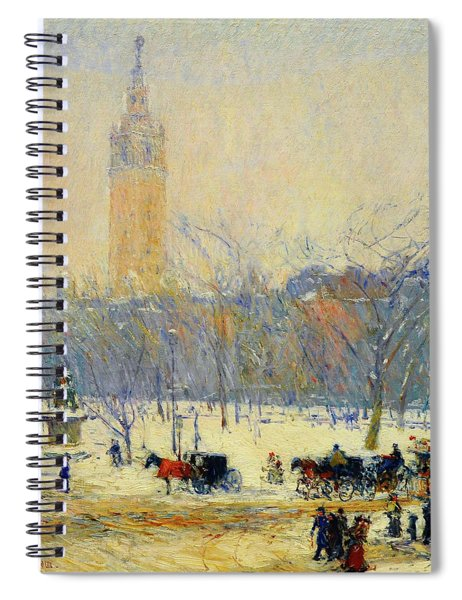 Snowstorm, Madison Square - Digital Remastered Edition Spiral Notebook