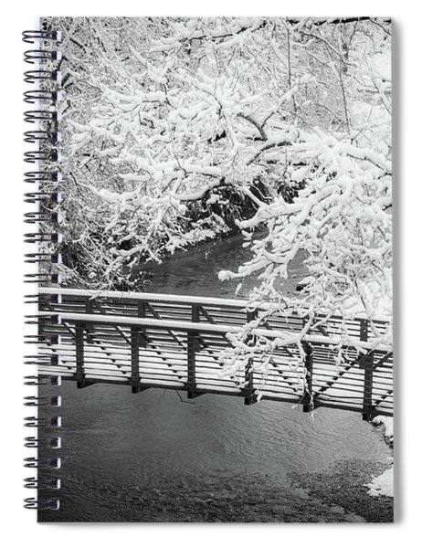 Snowy Bridge On Mill Creek Spiral Notebook