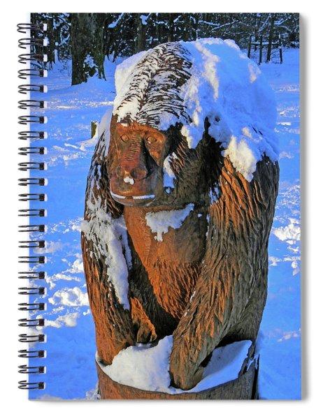 Snowy Gorilla Spiral Notebook