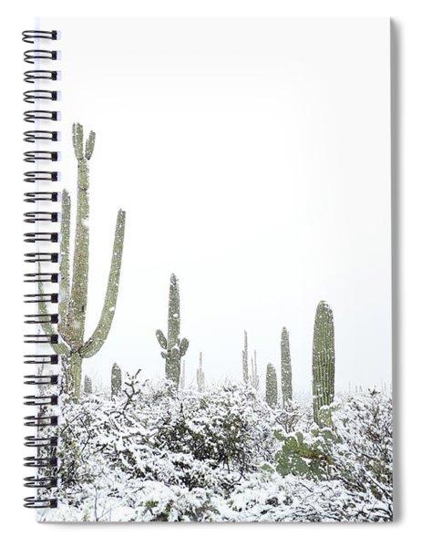Snowy Saguaro Cactus Spiral Notebook