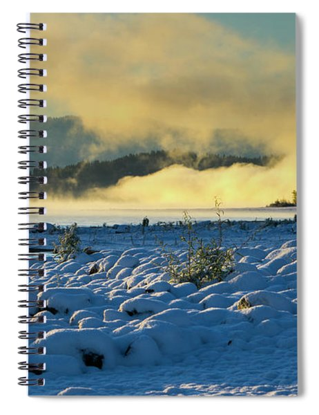 Snowy Shoreline Sunrise Spiral Notebook