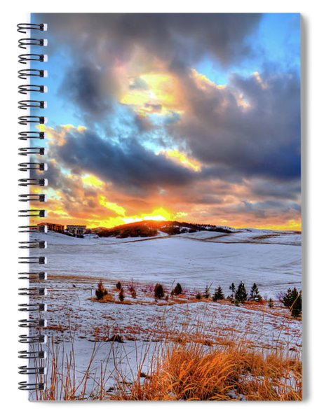 Snowy Sunset Spiral Notebook