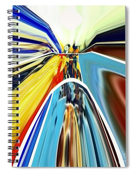 Spiral Notebook featuring the digital art So Far Away by A zakaria Mami