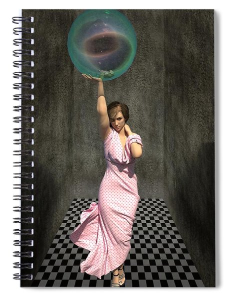 Soap Bubble Spiral Notebook