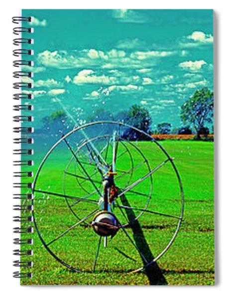 Sod Farm Irrigator Ill Country Roads  Spiral Notebook