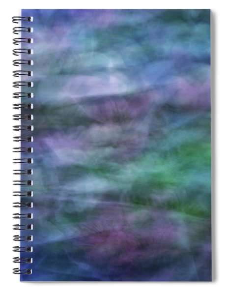Soft Flowing Abstract Background With Purples, Blues And Green Lines And Shapes Spiral Notebook
