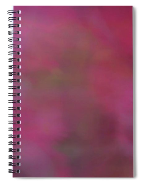 Soft Flowing Pastel Abstract Line Background With Pink, Red And Green Shapes Spiral Notebook