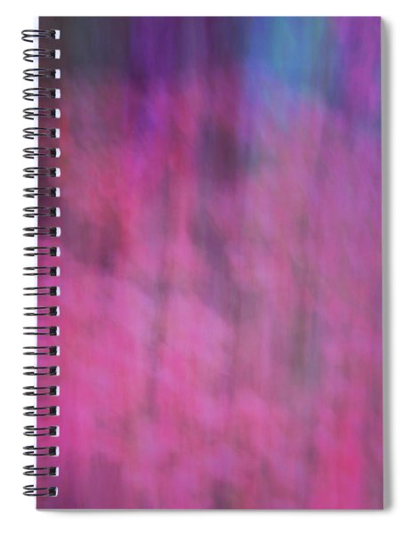 Soft Flowing Pastel Abstract Line Background With Pinks, Blues And Purple Spiral Notebook