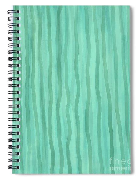 Soft Green Lines Spiral Notebook