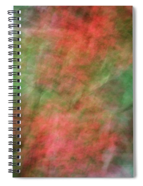 Soft Pastel Abstract Shapes Background With Oranges And Greens Spiral Notebook