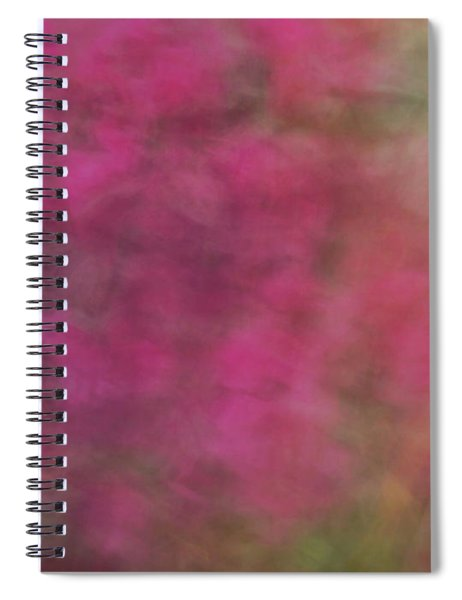 Soft Pastel Flower Like Abstract And Flowing Blurred Design Of Pinks And Greens Spiral Notebook