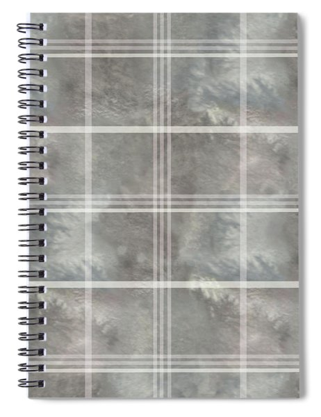 Soft Textured Cream And Blue Plaid Spiral Notebook