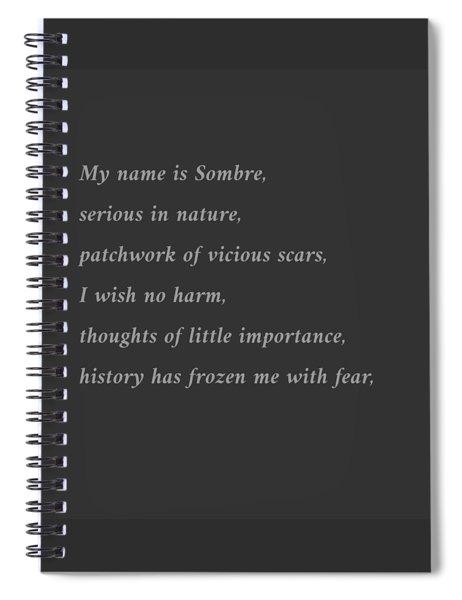 Sombre Spiral Notebook