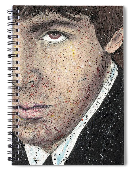 Something - Paul Mccartney Close Up Spiral Notebook