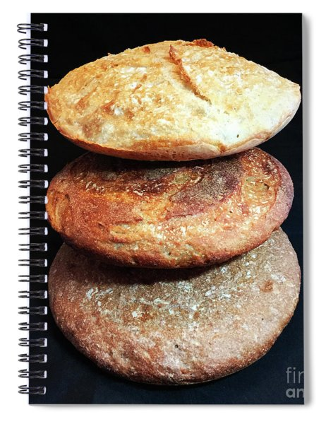 Sourdough Bread Stack 2 Spiral Notebook