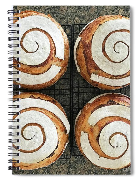 Sourdough Spirals X 4 Spiral Notebook