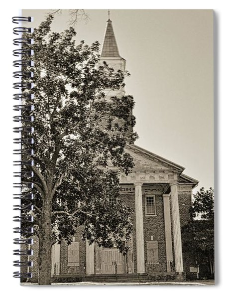 South Carolina State Hospital Chapel Of Hope Black And White 2 Spiral Notebook by Lisa Wooten