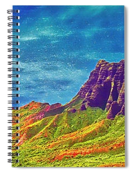 South Pacific, Sunlit, Na Pali Coast State Wilderness Park, Kauai  Spiral Notebook