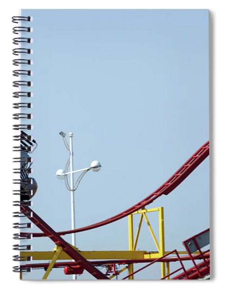 Southport.  The Fairground. Crash Test Ride. Spiral Notebook
