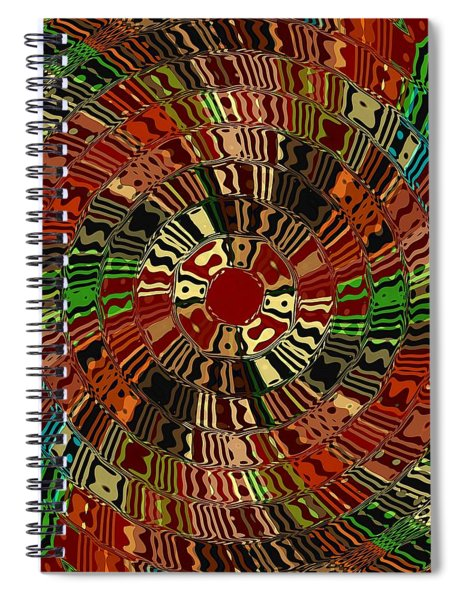 Southwestern Sun Swirl Spiral Notebook