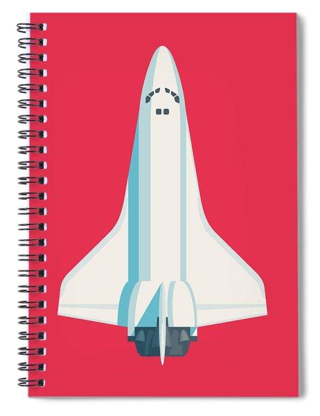 Space Shuttle Spacecraft - Crimson Spiral Notebook
