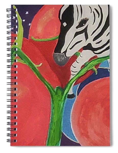 Space Zebra Spiral Notebook