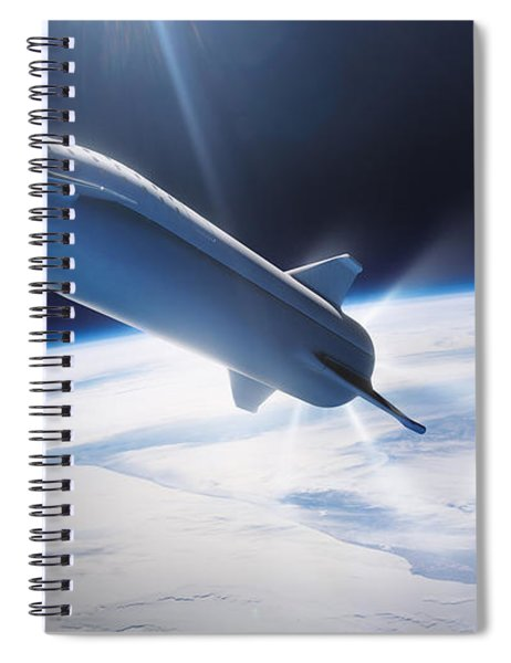 Spacex Bfr Leaving Earth Spiral Notebook