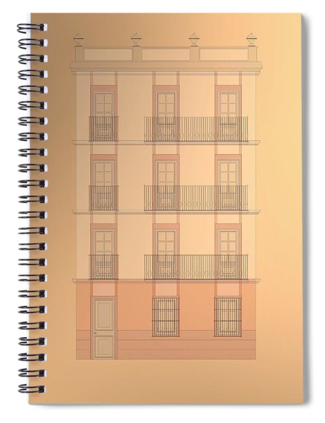 Spanish Architecture Over Cooper Background. Spiral Notebook