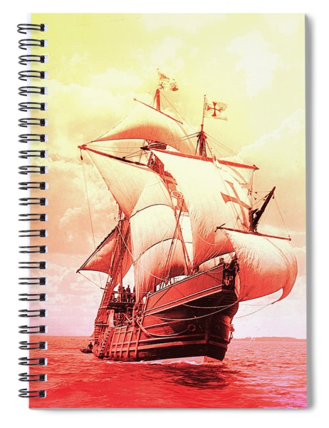 Spanish Caravel Santa Maria Spiral Notebook