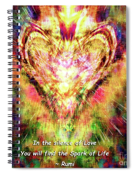 Spiral Notebook featuring the digital art Spark Of Life by Atousa Raissyan