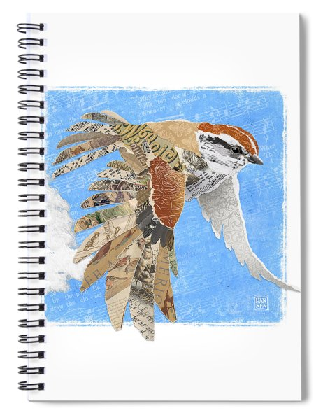 Sparrow Spiral Notebook by Clint Hansen