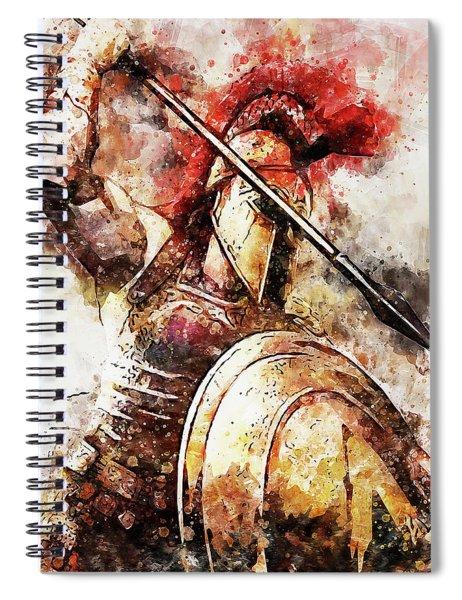 Spartan Hoplite - 54 Spiral Notebook