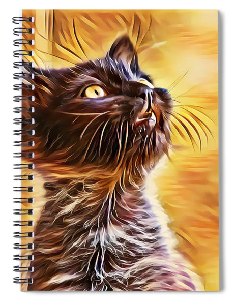 Special Long Neck Kitty Spiral Notebook