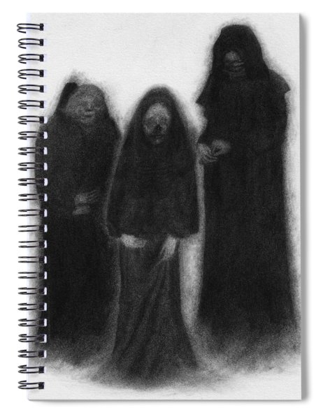 Specters Of The Darkness Beneath - Artwork Spiral Notebook