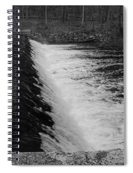 Spillway In Detail - Waterloo Village Spiral Notebook