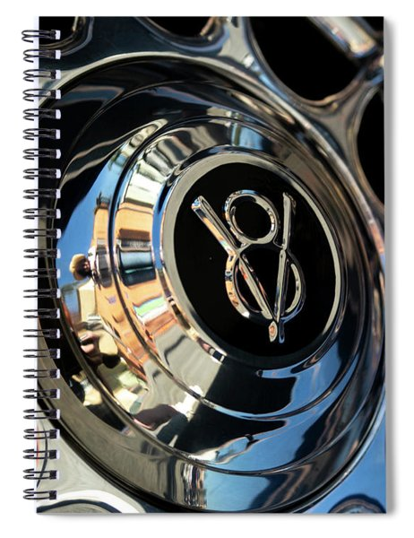 Spinning V8 Spiral Notebook