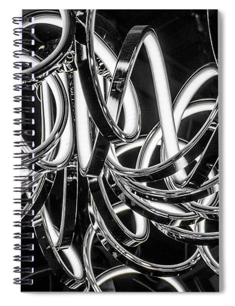 Spirals Of Light Spiral Notebook
