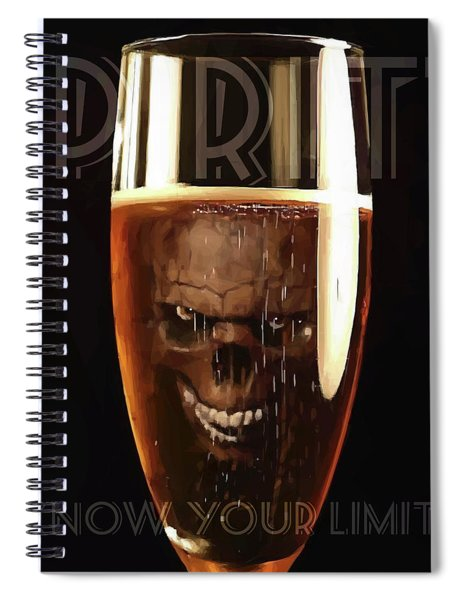 Spiral Notebook featuring the digital art Spirits - Know Your Limits by ISAW Company
