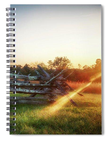 Split-rail Sunset Spiral Notebook