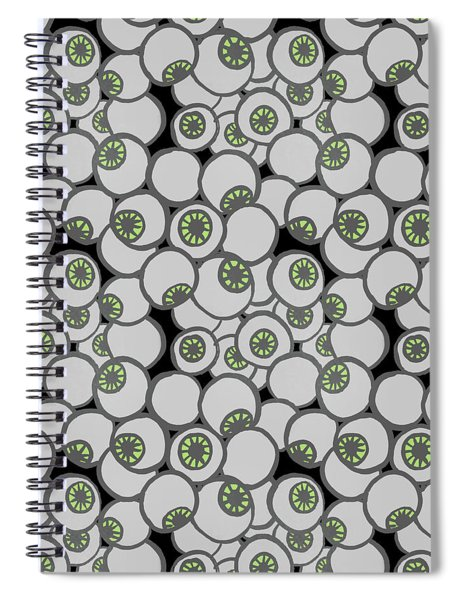 Spooky Eyeball Halloween Pattern Spiral Notebook